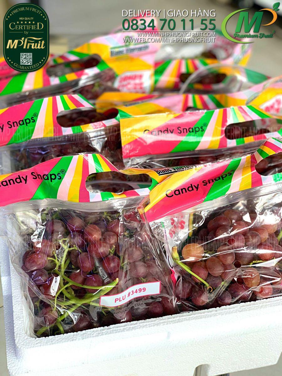 Nho Đỏ Kẹo Candy Store Grapes chủng Candy Snaps Mỹ tại MP Fruits