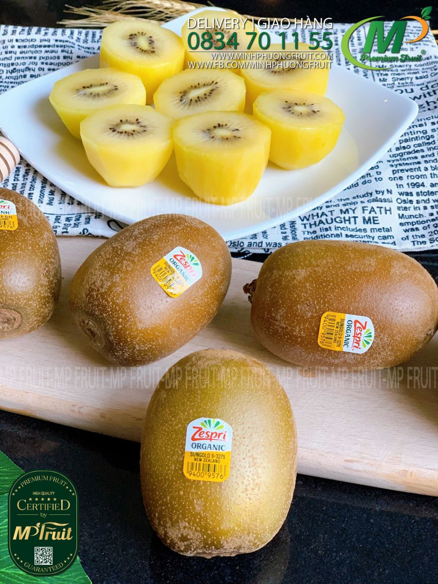 Kiwi Vàng Zespri Sungold Organic New Zealand tại MP Fruit