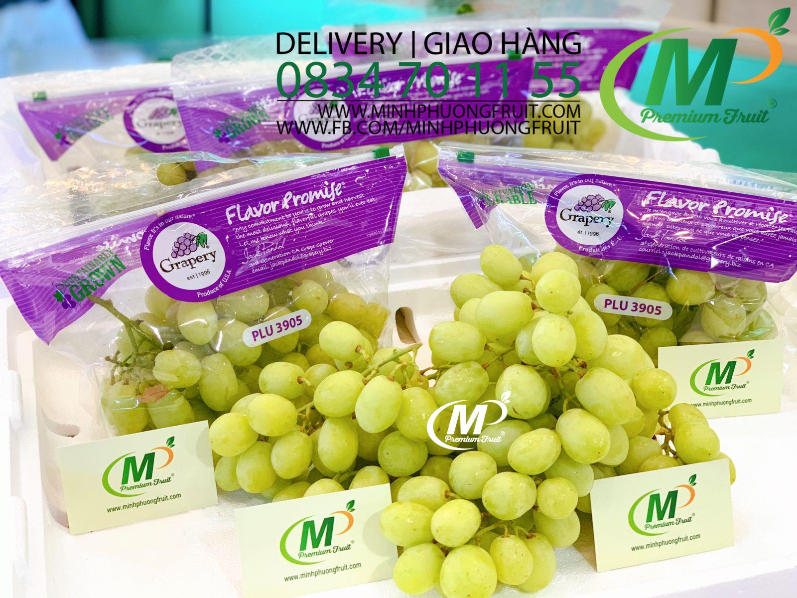 Nho Xanh Sweet Globe Mỹ hãng Grapery tại MP Fruit