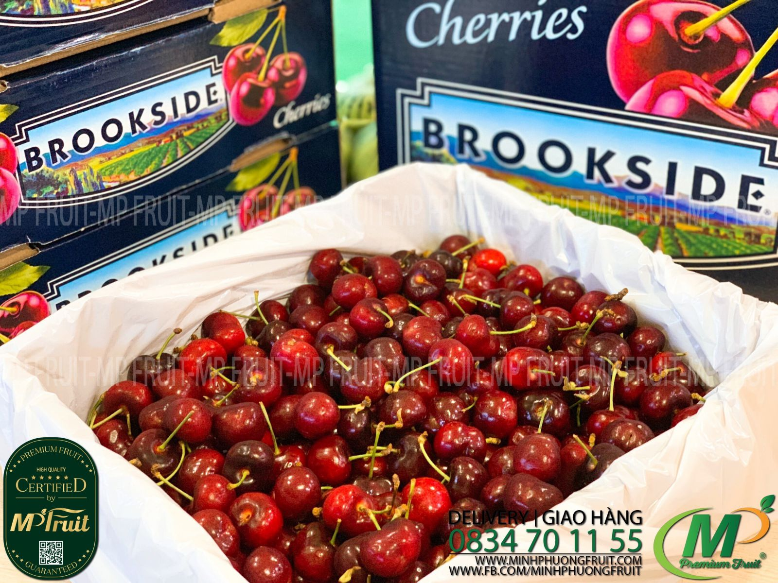 Cherry Đỏ Brookside Mỹ tại MP Fruits