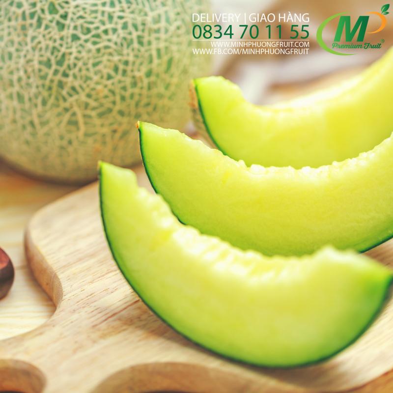 Dưa Lưới Nhật Ichiba Biển Ngọc Bích Organic - SeaEmerald Musk Melon Danny Green tại MP Fruits