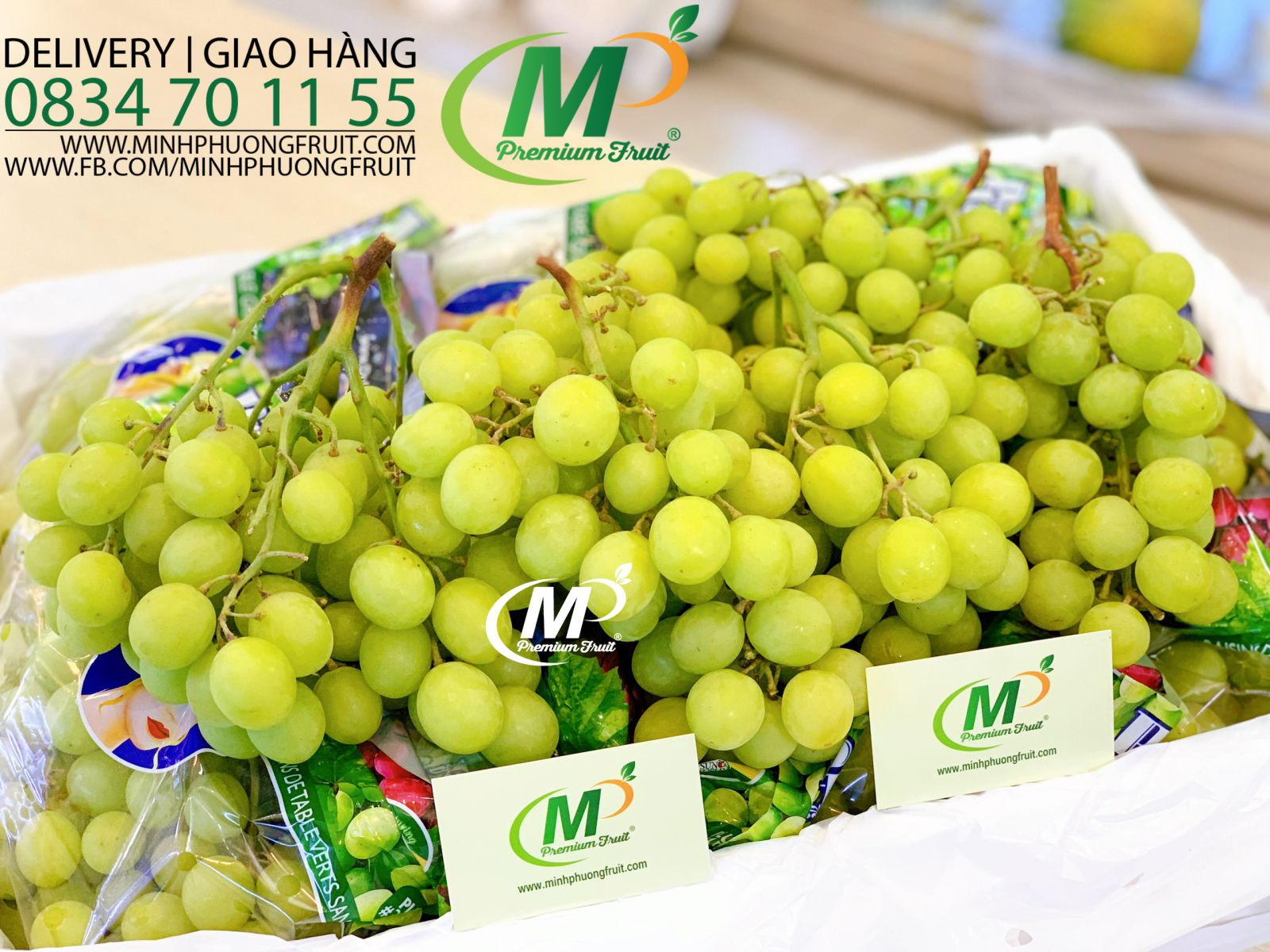 Nho Xanh Autumn Crisp Pretty Lady Mỹ tại MP Fruits