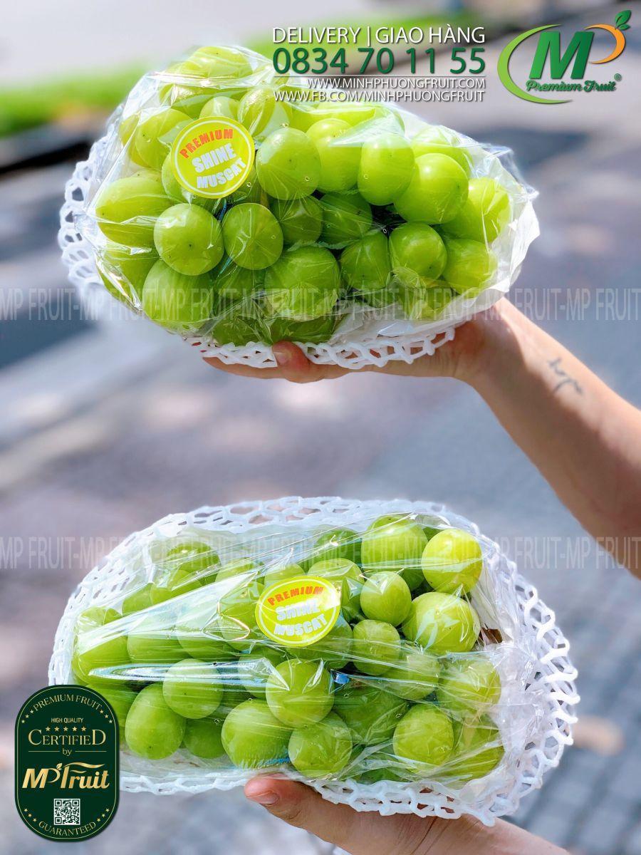 Nho Mẫu Đơn Shine Muscat Hàn Quốc tại MP Fruits
