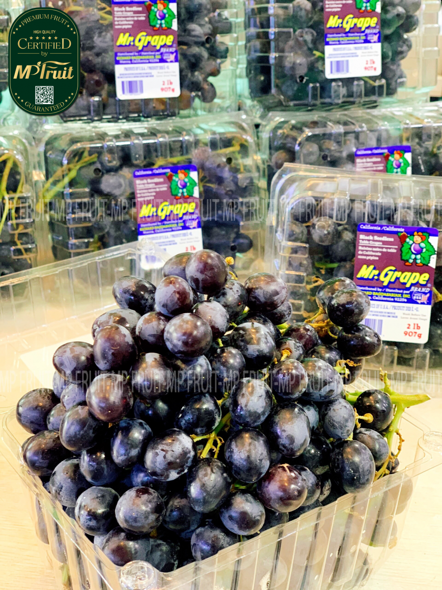 Nho Đen Kẹo Mr.Grape Mỹ tại MP Fruits