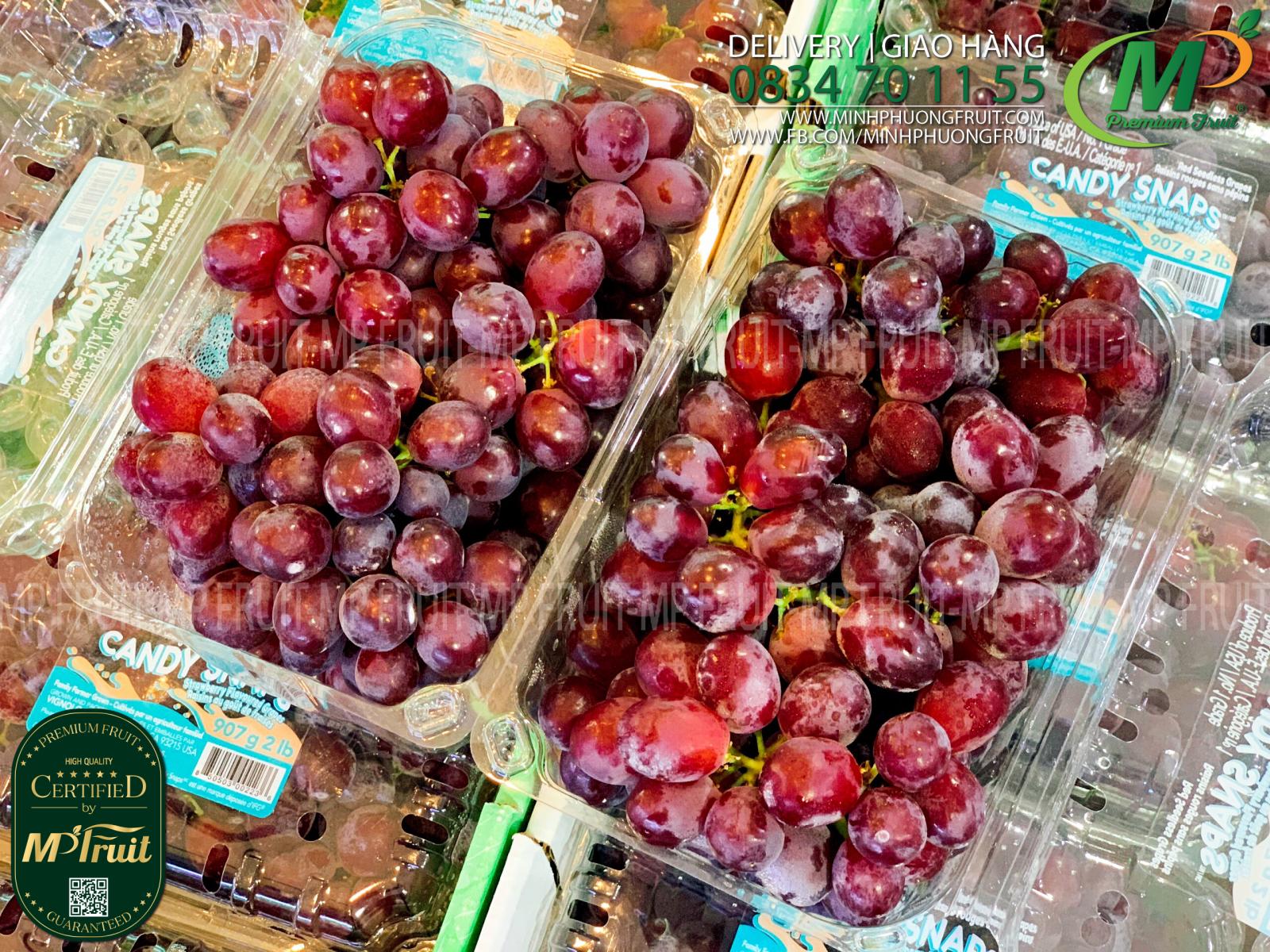 Nho Đỏ Kẹo Candy Snaps Mỹ Hộp 907g tại MP Fruits