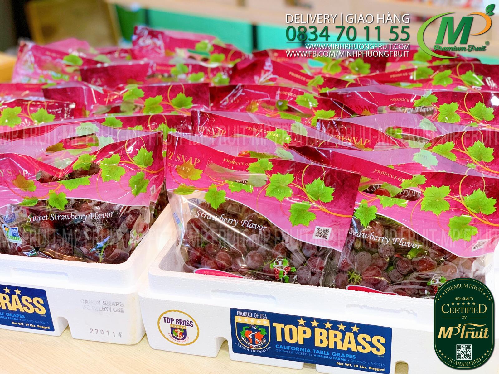 Nho Đỏ Kẹo Candy Snaps Mỹ tại MP Fruits