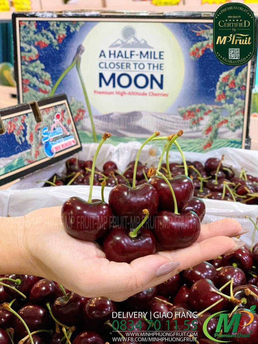 Cherry Đỏ Moon Stemilt Size 9 Mỹ tại MP Fruits