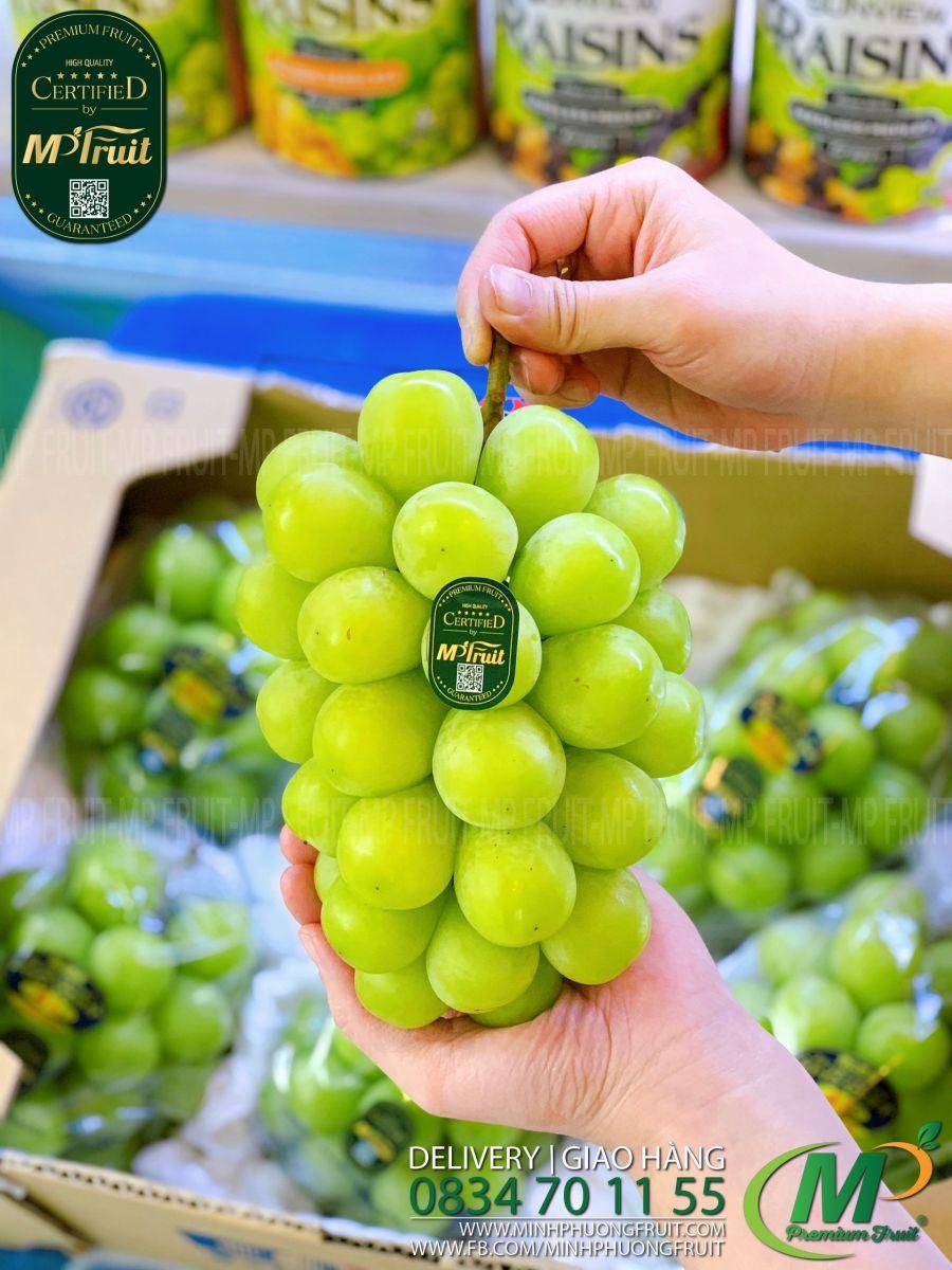 Nho Mẫu Đơn Shine Muscat Okayama Nhật Bản tại MP Fruit