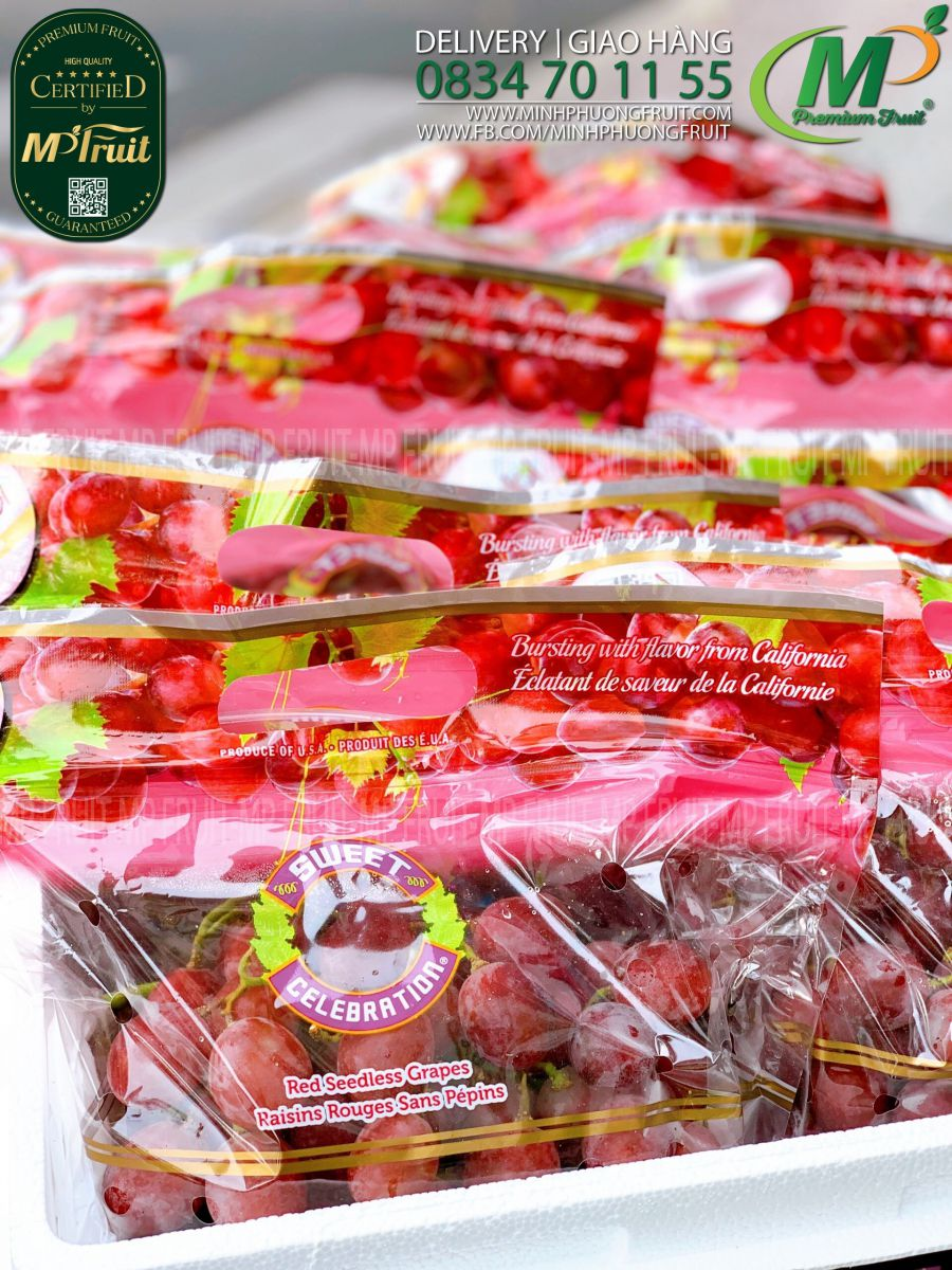 Nho Đỏ Sweet Celebration Mỹ tại MP Fruits