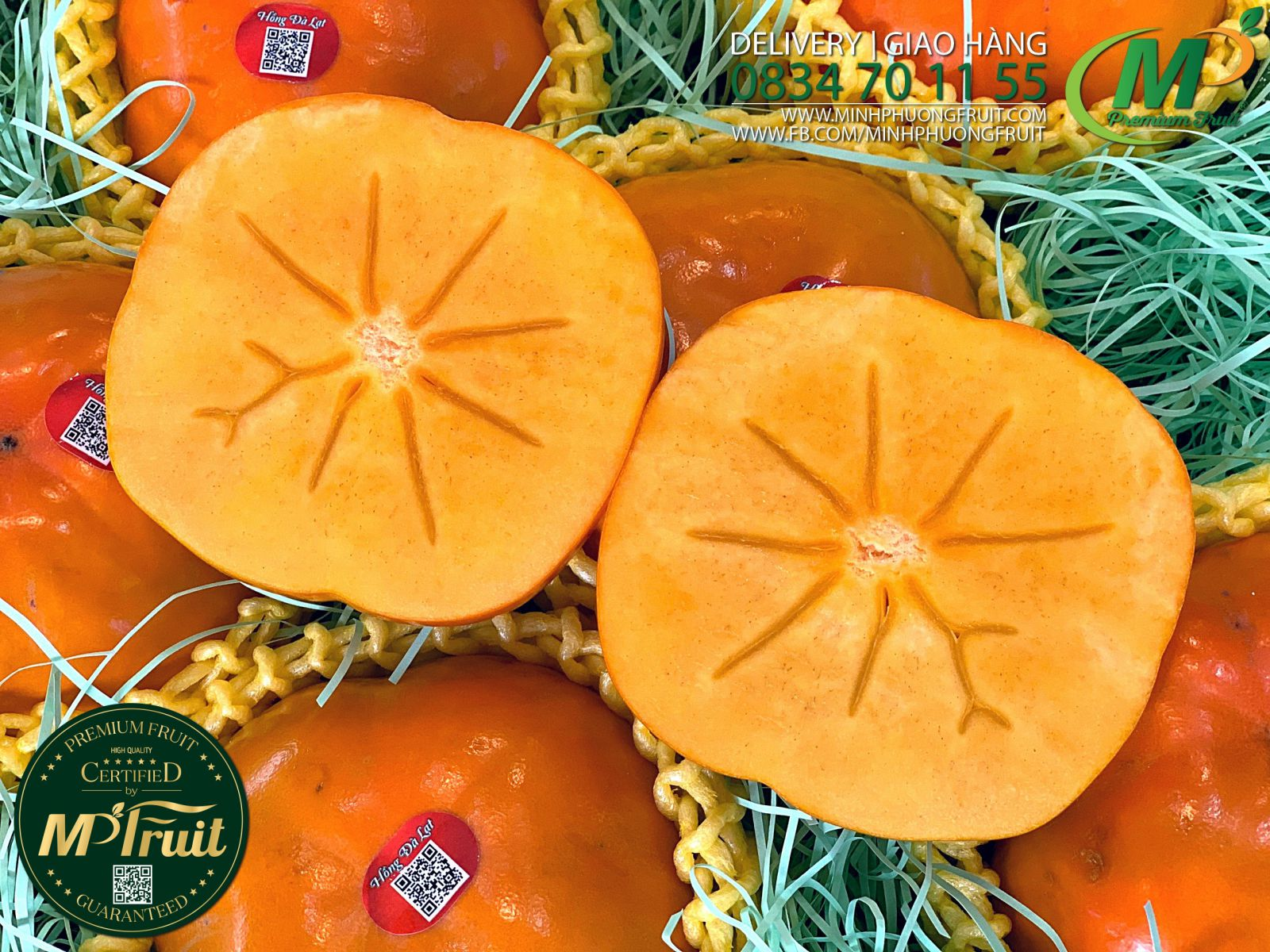 Hồng Giòn Fuyu Giống Nhật Bản tại MP Fruit