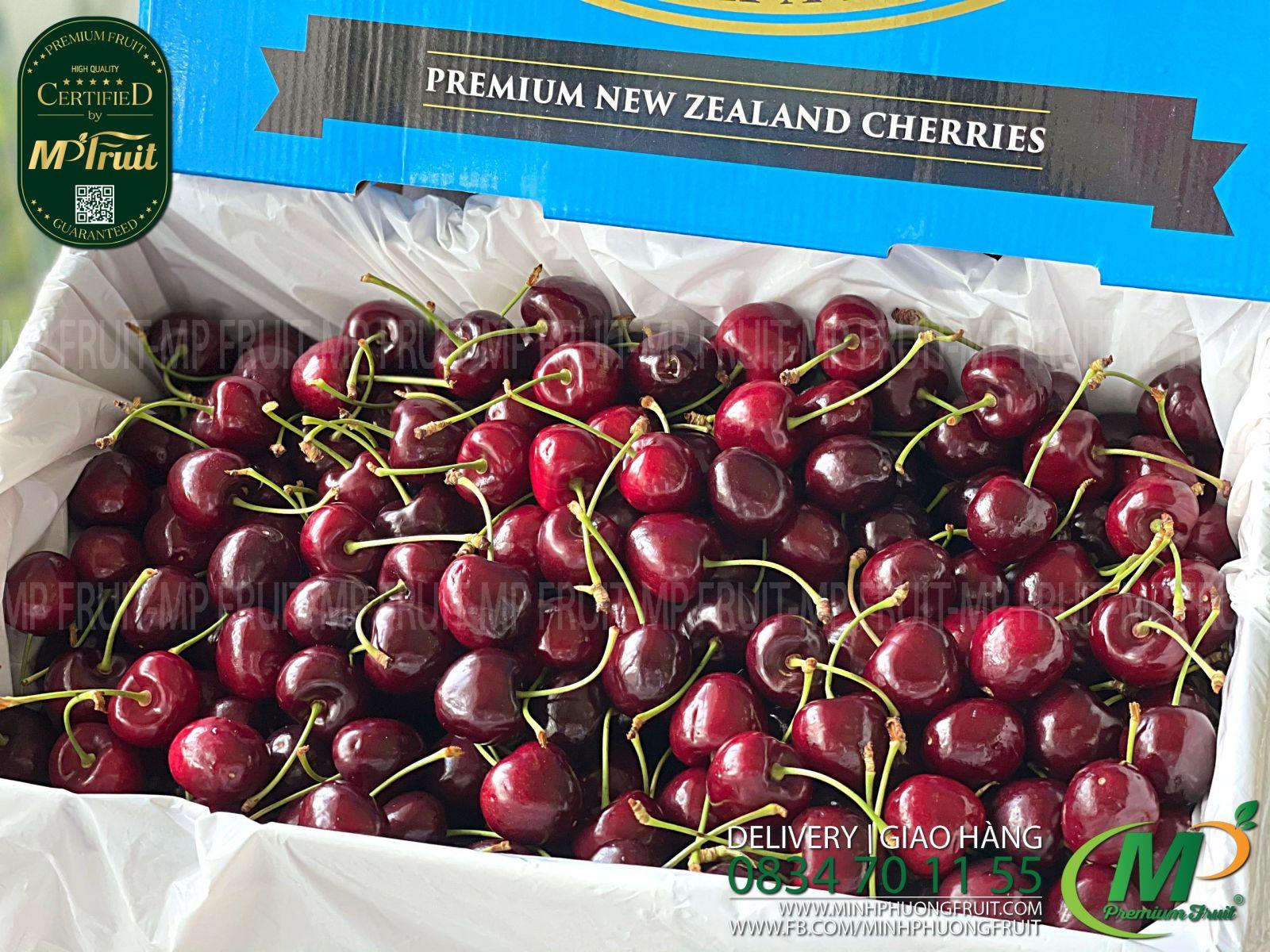 Cherry Đỏ Suncrest New Zealand Size 30+ tại MP Fruits