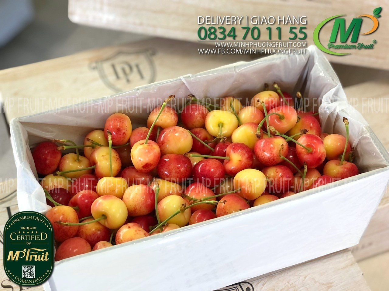 Cherry Vàng New Zealand Size 28+ Dunstan Hill tại MP Fruit