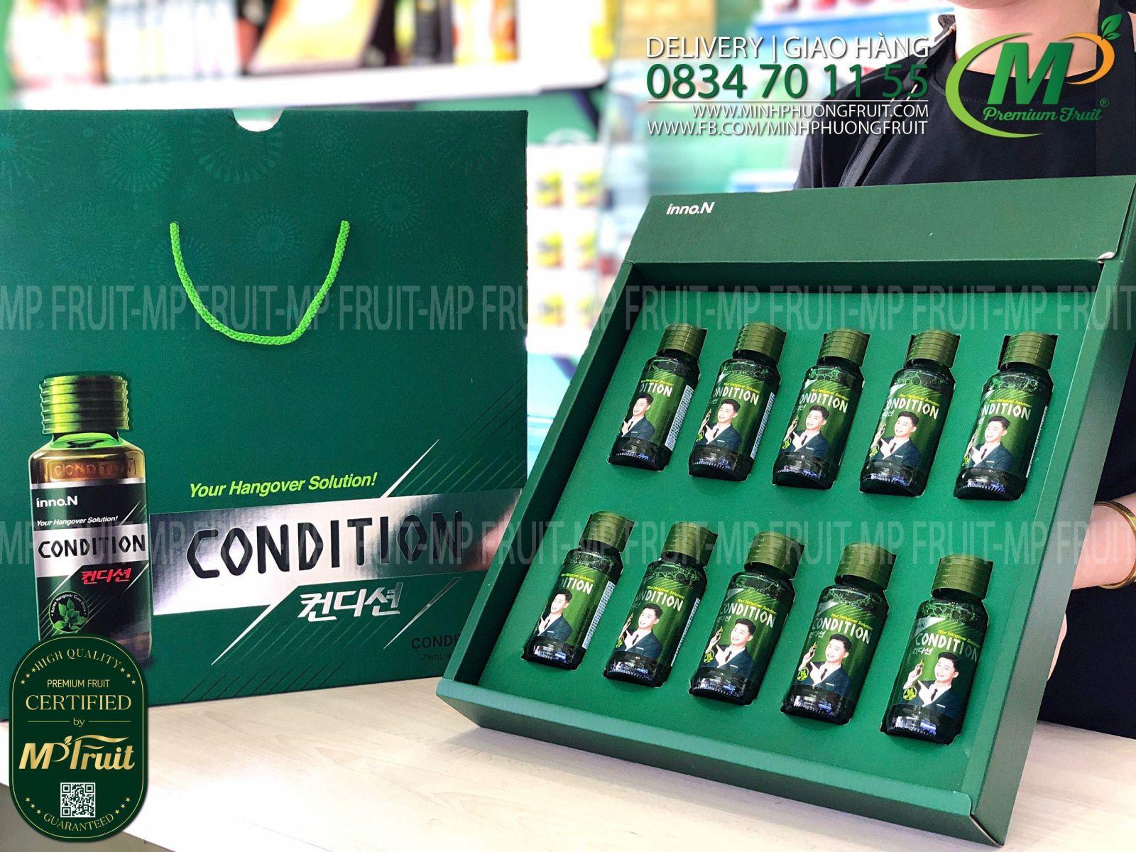 Nước Giải Rượu Condition Hàn Quốc   Gift Box 10 Chai x 75ml tại MP Fruits