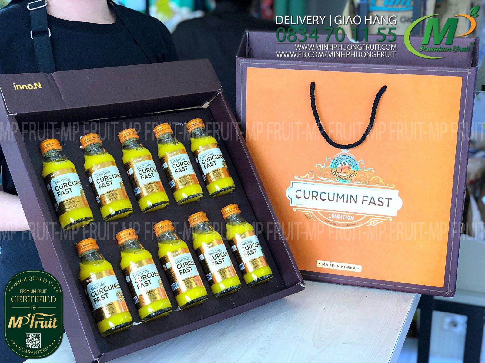 Nước Tinh Nghệ Nano Condition Curcumin Fast Hàn Quốc   Gift Box 10 Chai x 100ml tại MP Fruits