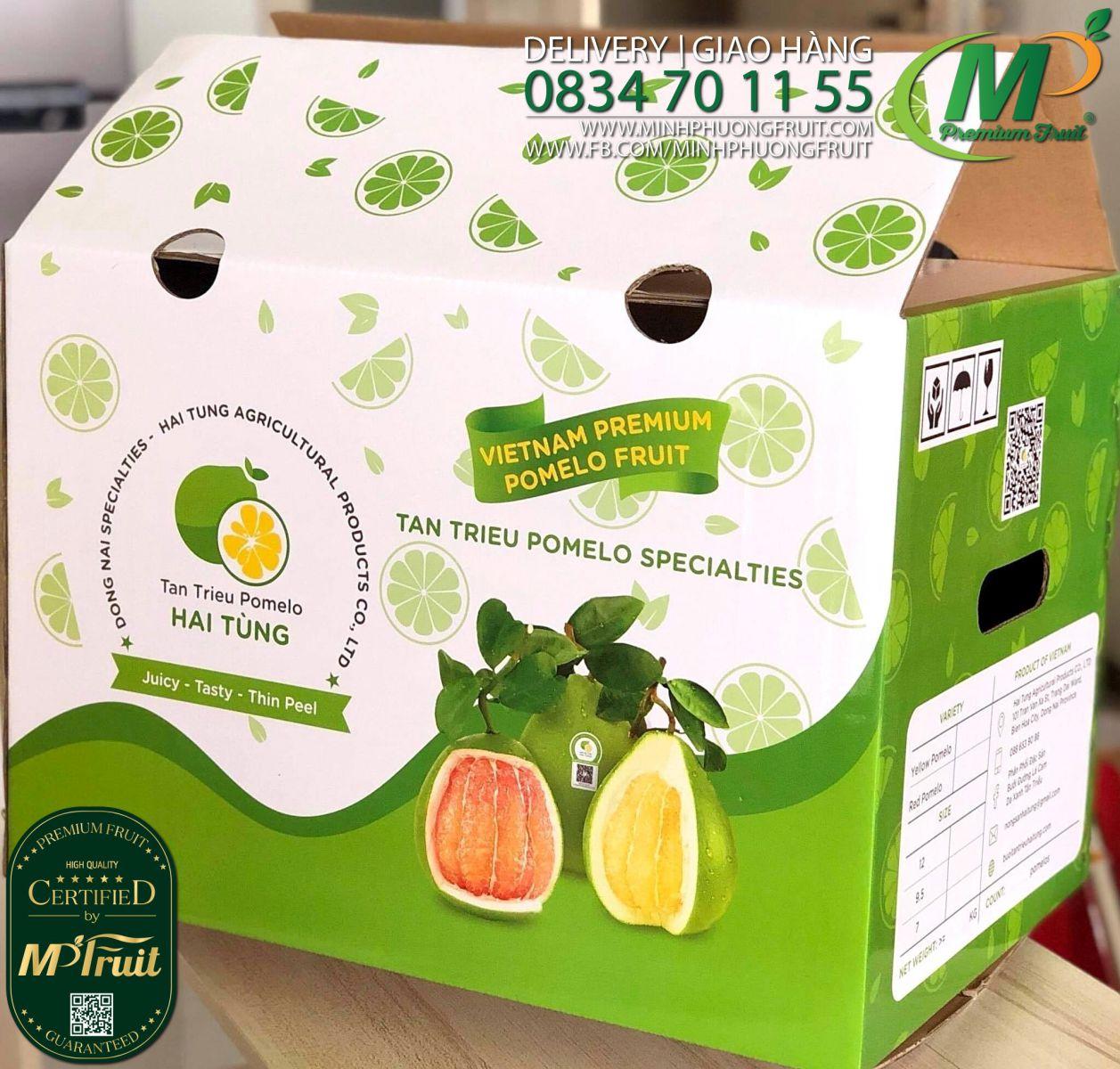 Bưởi Đường Lá Cam Hai Tùng Tân Triều Thùng 12 Trái tại MP Fruits