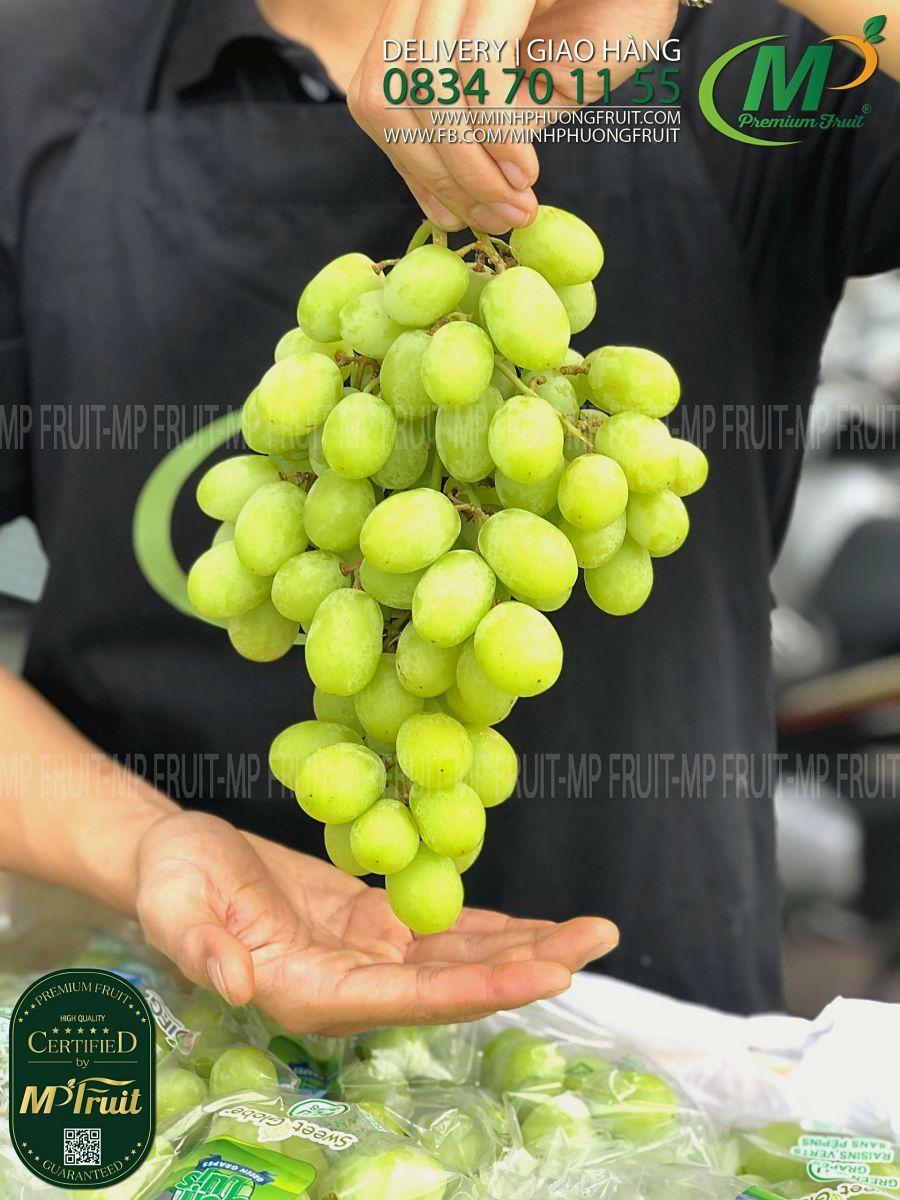 Nho Xanh Sweet Globe Peru tại MP Fruit