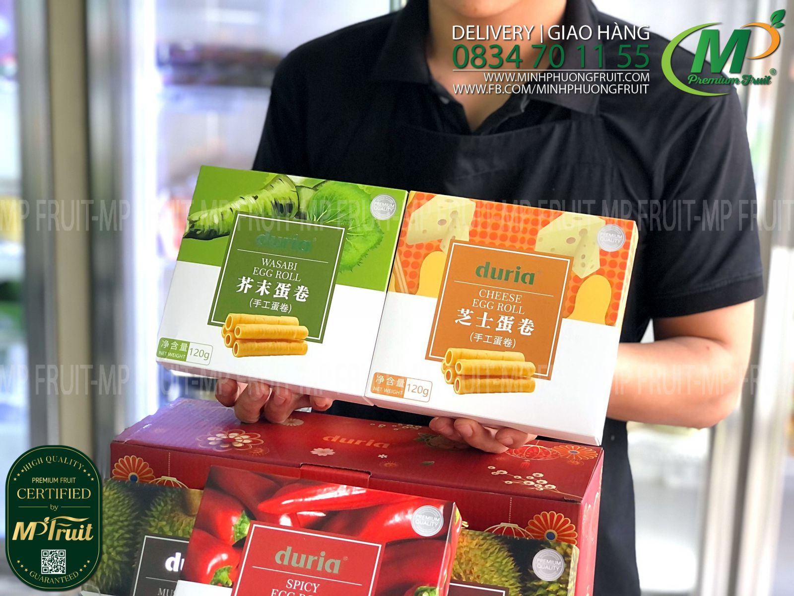 Hộp Quà Tặng Bánh Quế Cuộn 5 vị Đài Loan | Duria® - 6 boxes x 120g