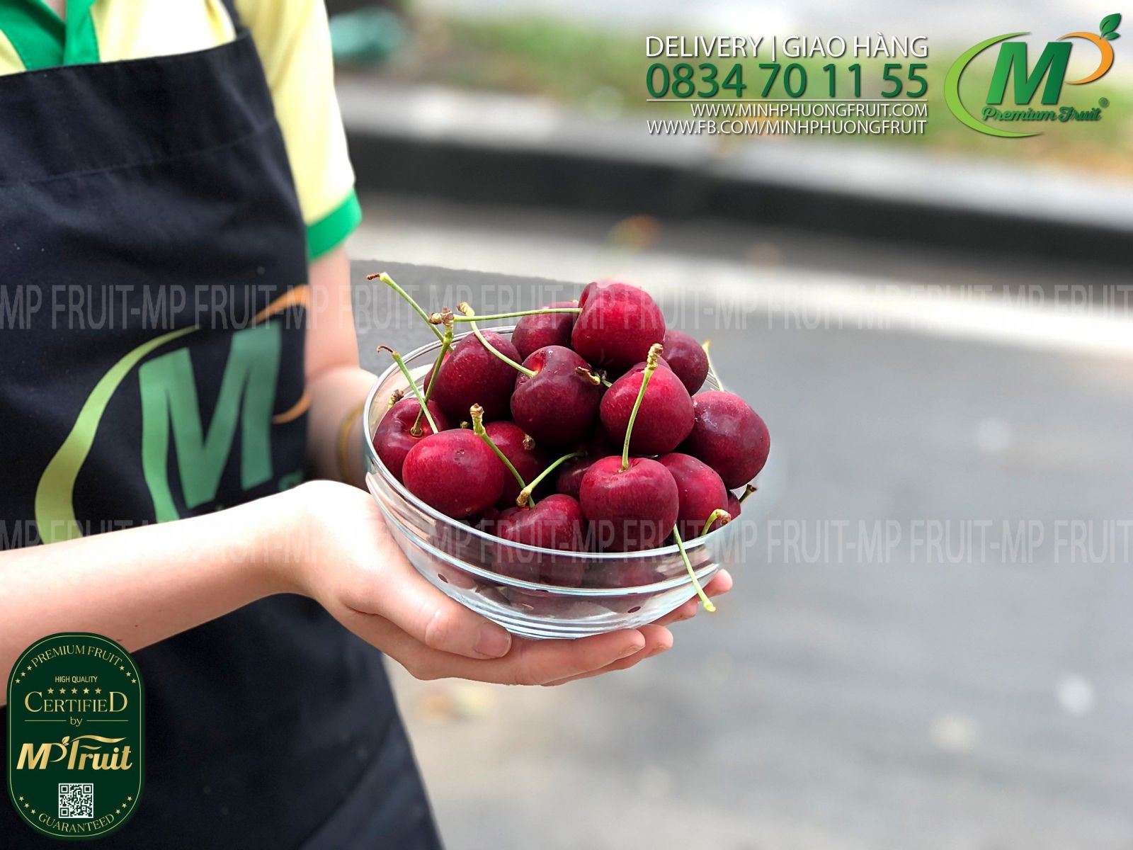 Cherry Đỏ New Zealand Size 30+ | Pongs Creek - Hộp 2kg tại MP Fruits