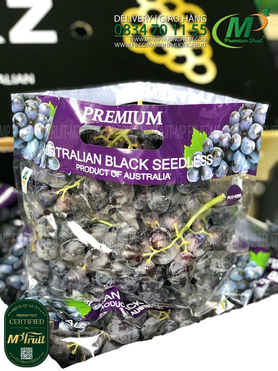 Nho Đen Không Hạt Sweet Flavor Úc | GRZ tại MP Fruits