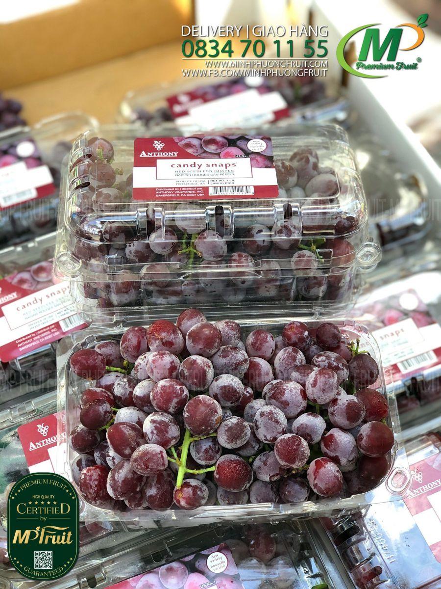 Nho Đỏ Kẹo Candy Snaps Mỹ | Anthony Hộp 453g tại MP Fruits