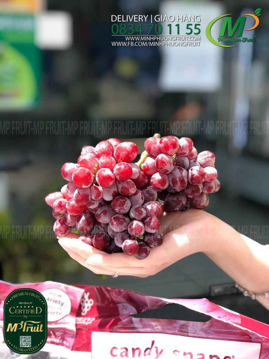 Nho Đỏ Kẹo Candy Snaps Mỹ | Anthony tại MP Fruits