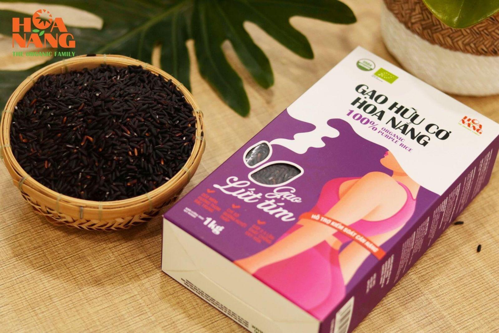 Gạo Hữu Cơ Hoa Nắng - Gạo Lứt Tím - MP Fruit